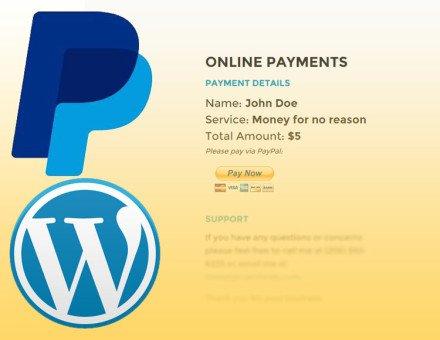 PayPal Wordpress Custom Button