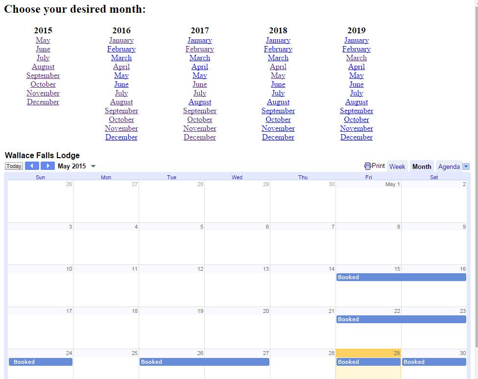 Google Calendar Embed Iframe in Full Year View Script - Rise