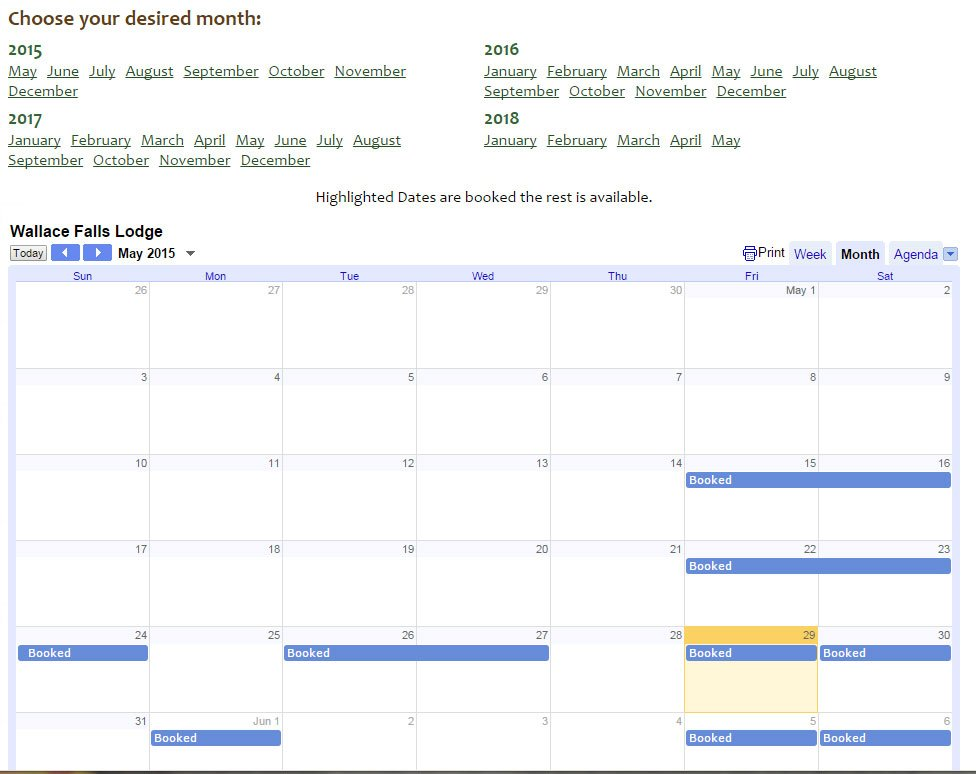 Google Calendar Embed Iframe in Full Year View Script - Rise